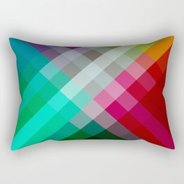Rainbow 3 color Rectangular Pillow