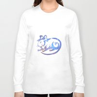 zodiac Long Sleeve T-shirts featuring Rat zodiac  by Julia Lake Art Designs