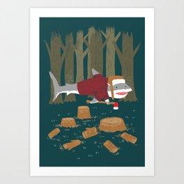 LumberJack Shark Art Print