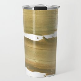 Dark khaki colored wash drawing paper Travel Mug