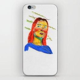 Graphic portrait 1 iPhone Skin