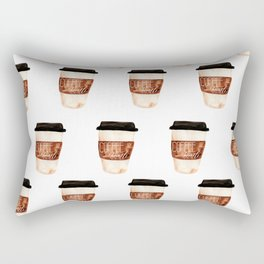 Coffee and Hustle on the Go Rectangular Pillow