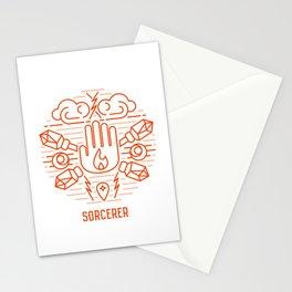 Sorcerer Emblem Stationery Cards