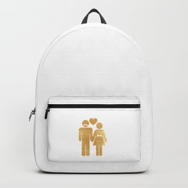 The golden couple Backpack