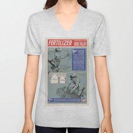 Vintage poster - Fertilizer Unisex V-Neck