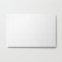 Black and White Minimal Line Pattern I Metal Print
