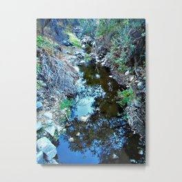 Stream Reflections at Dusk Metal Print
