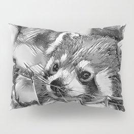 AnimalArtBW_RedPanda_20170702_by_JAMColorsSpecial Pillow Sham