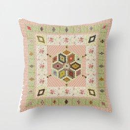Baby Hexagon Quilt Throw Pillow