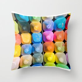 Chalk Art Throw Pillow