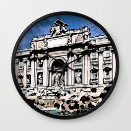 Fontana di Trevi, Rome Wall Clock