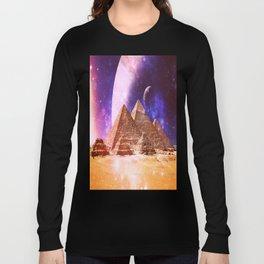 Galaxy Pyramids Long Sleeve T-shirt