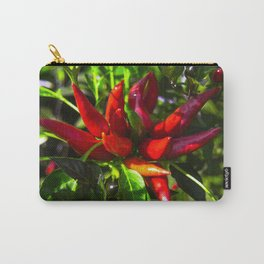 Red and Green Chili Peppers Carry-All Pouch
