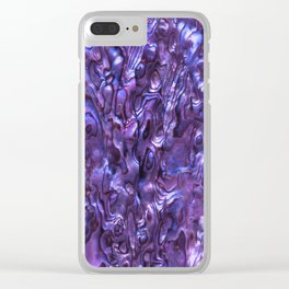 Abalone Shell   Paua Shell   Violet Tint Clear iPhone Case