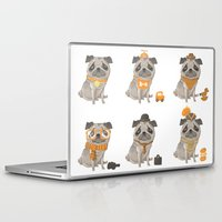 pugs Laptop & iPad Skins featuring Pugs Abound by Talie