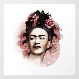 Frida Kahlo illustration Art Print