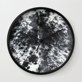 Cowhide black and white | Textures Wall Clock