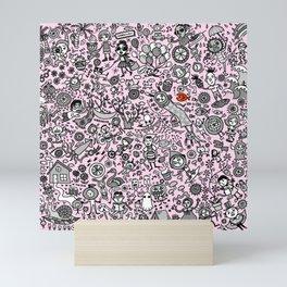 Good Time in Pink Mini Art Print