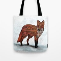 fox Tote Bags featuring Red Fox by Ben Geiger