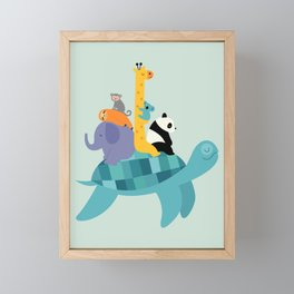 Travel Together Framed Mini Art Print