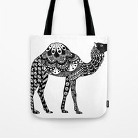 camel Tote Bags featuring Camel by Sophie H.