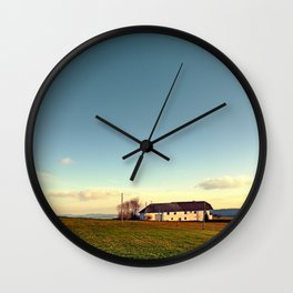 The serenity of countryside life | landscape photography Wall Clock