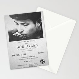 Bob Dylan Poster, 1961, First NY Concert Stationery Cards