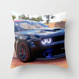 Highway Police Patrol Challenger Demon Throw Pillow