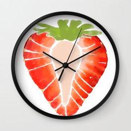 Strawberry Secret Wall Clock