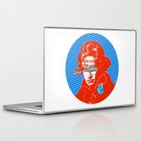 beethoven Laptop & iPad Skins featuring Ludwig van Beethoven 12 by Marko Köppe