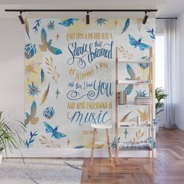 SILENCE THAT DREAMED OF BECOMING A SONG Wall Mural
