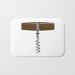 Corkscrew With Wooden Handle Bath Mat