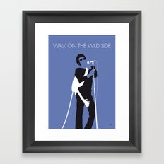 No068 MY LOU REED Minimal Music poster Framed Art Print