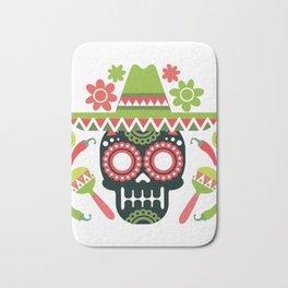 Mexican Cinco De Mayo Skull Party Bath Mat