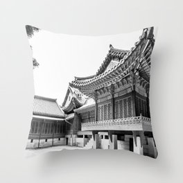 The King's Bed Chambers_Changdeokgung Palace Throw Pillow