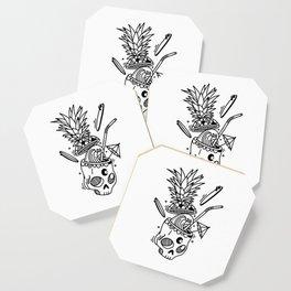 PinaSkullada   Black & White Coaster