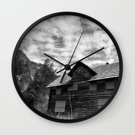 Enchanted Valley Chalet Wall Clock
