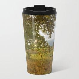 Autumn Countryside Landscape Sunset Travel Mug