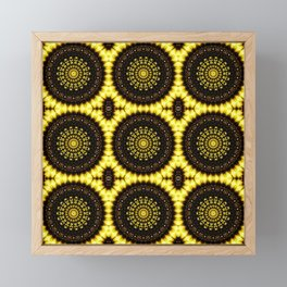 Sunflower Manipulation Grid 2 Framed Mini Art Print