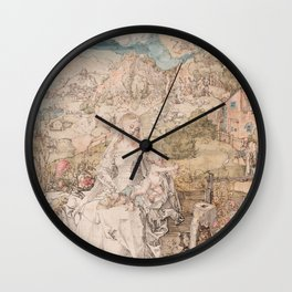 Albrecht Durer - Mary Among A Multitude Of Animals 1503 Wall Clock