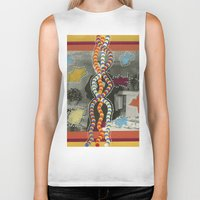 dna Biker Tanks featuring DNA by Naomi Vona