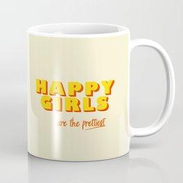 Happy Girls - typography Coffee Mug