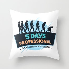 funny weekend t-shirt party Throw Pillow