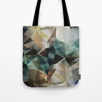 garfield Tote Bags featuring Abstract Grunge Triangles by Phil Perkins