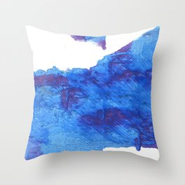 Bleu de France Throw Pillow