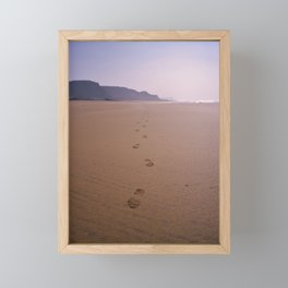 THE WHOLE BEACH TO MYSELF Framed Mini Art Print