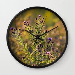 Fall Flowers Wall Clock
