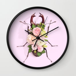 FLORAL BEETLE Wall Clock