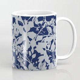 Blue and Grey Floral Pattern - Broken but Flourishing Coffee Mug