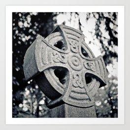 Artistic Celtic cross Art Print